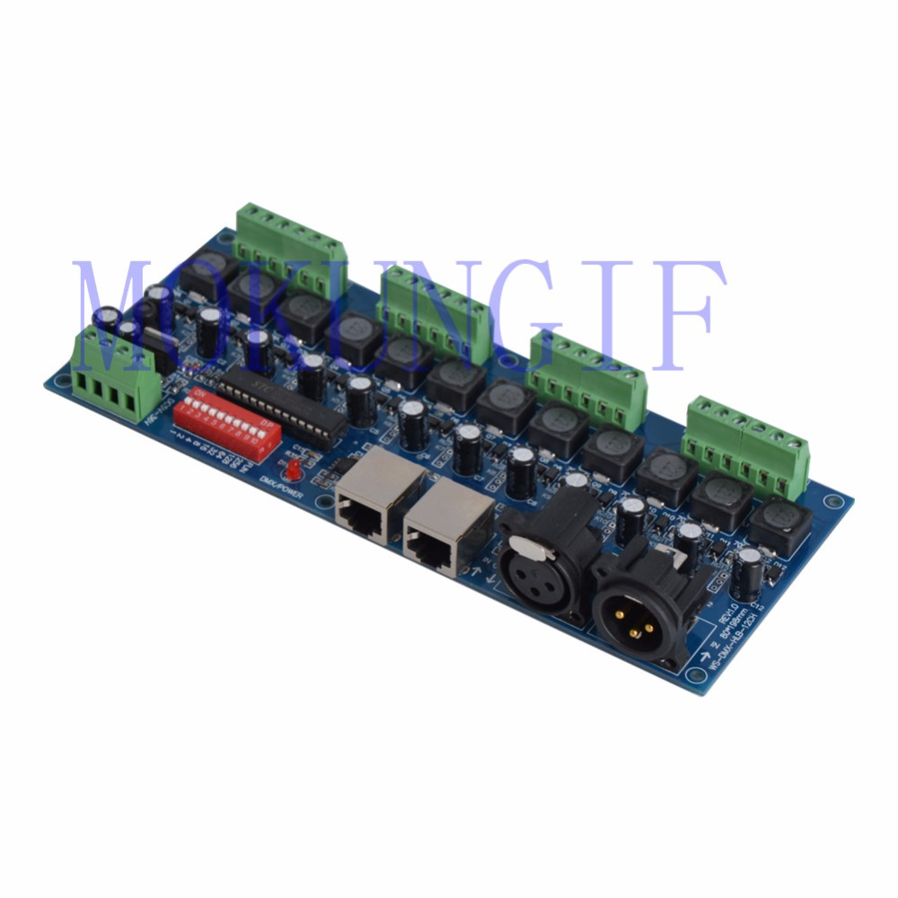 12CH 350ma/700ma constant current 12 channel dmx 512 dimmer,drive , 12 channel DMX512 decoder,led dimmer, RJ45 XRL 3P for LED 350ma constant current 12ch dmx dimmer 12 channel dmx 512 dimmer drive led dmx512 decoder rj45 xrl 3p