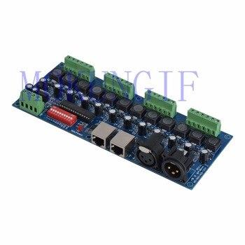 12CH 350ma/700ma de corrente constante de 12 canais dmx 512 dimmer, a unidade, 12 canais DMX512 decoder, led dimmer, RJ45 XRL 3 P para LED