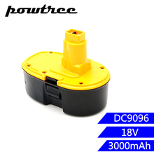 3000mAh 18V DC9096 Ni-MH Rechargeable Battery for Dewalt DE9039 DE9095 DE9096 DC020 DC212 DC212B DE9039 DE9095 DE9096 DE9098 стоимость