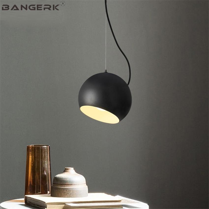 BANGERK Loft Style Modern LED Pendant Lamp For Dining Room Black Iron Hanging Light Home Decor Indoor Lighting Hanglamp
