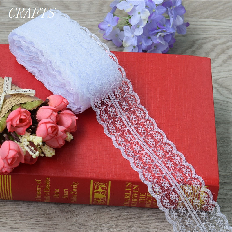 New! 10 yards of beautiful lace ribbon, 4.5 cm wide, DIY Clothing / Accessories / floral accessories, etc.