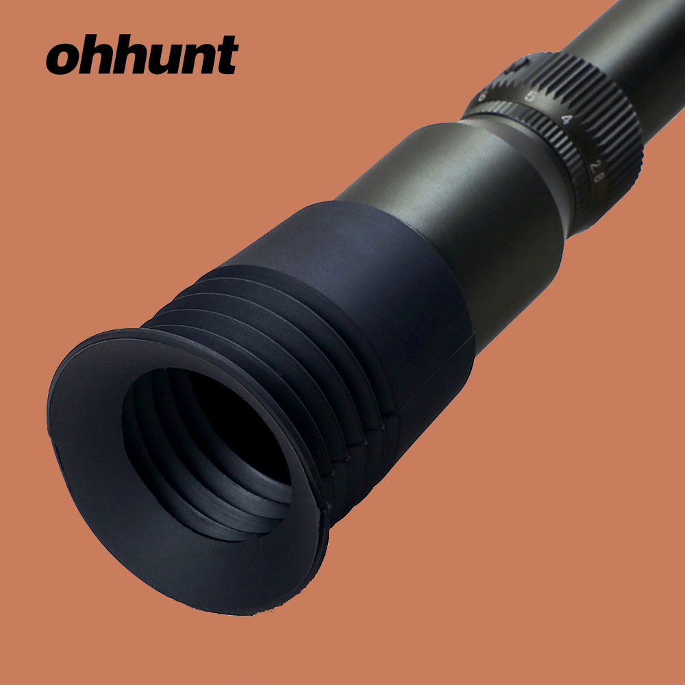 Ohhunt Rubber Eye Protector 40mm Inner Diameter Recoil Eye Protector Cover For Tactical Riflescope Hunting Scope Lens Cover
