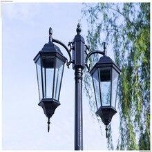 Водонепроницаемый алюминиевого литья под давлением уличном фонарном Открытый Пейзаж лампа никогда не ржавеет Сад Двор проход уличные фонари черный