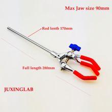Лабораторный трехзубец зажим для пальца трехзубец расширение лабораторный стакан колба зажимы, электрическая жестяная, одна регулировка, Макс челюсти Si