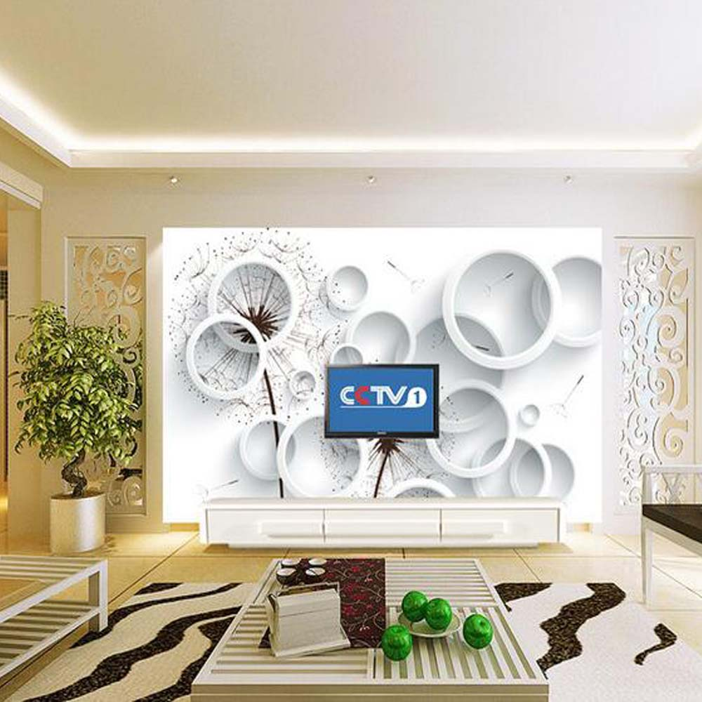 Circle Abstract 3D Wallpaper Photo Murals Wall Decor paper 3d Wall ...