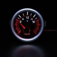 2 52mm Universal Gray Car Auto Digital LED 12V Voltage Meter Voltmeter Gauge