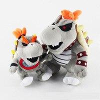 Vários tamanhos de Super Mario Bros Bowser Plush Toys Stuffed Animal Toy Dolls presente de Natal presente de aniversário