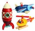 1 пк creative Janod дерево монтажный комплект модель вертолет ракета самолёт дети развития образовательный младенцы игрушка подарок