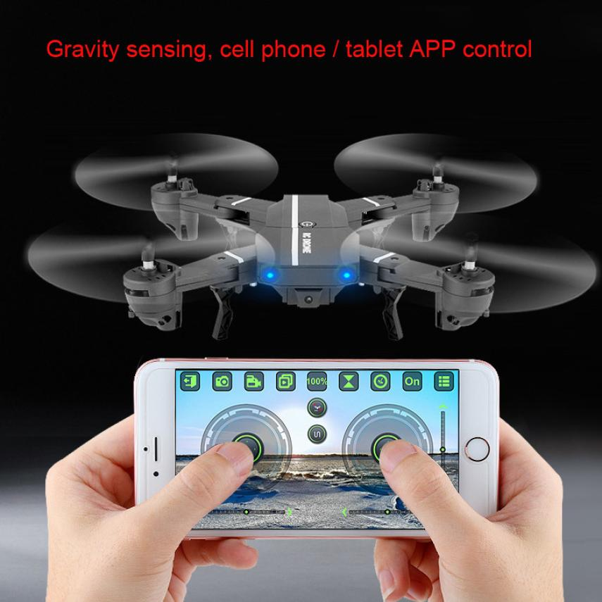 New Drone  2.4G 4CH Altitude Hold 2.0MP HD Camera WIFI FPV RC Pocket Drone Selfie Foldable with camera T228 tracker selfie pocket drone altitude hold foldable mini rc quadcopter wifi camera helicopter headless