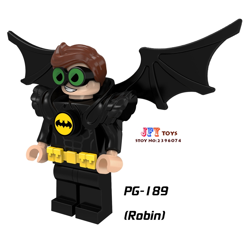 Single super heroes dc comics Justice League Bat Robin NightWing building blocks model bricks toy for children brinquedos menino барабан к галтовке robin 20