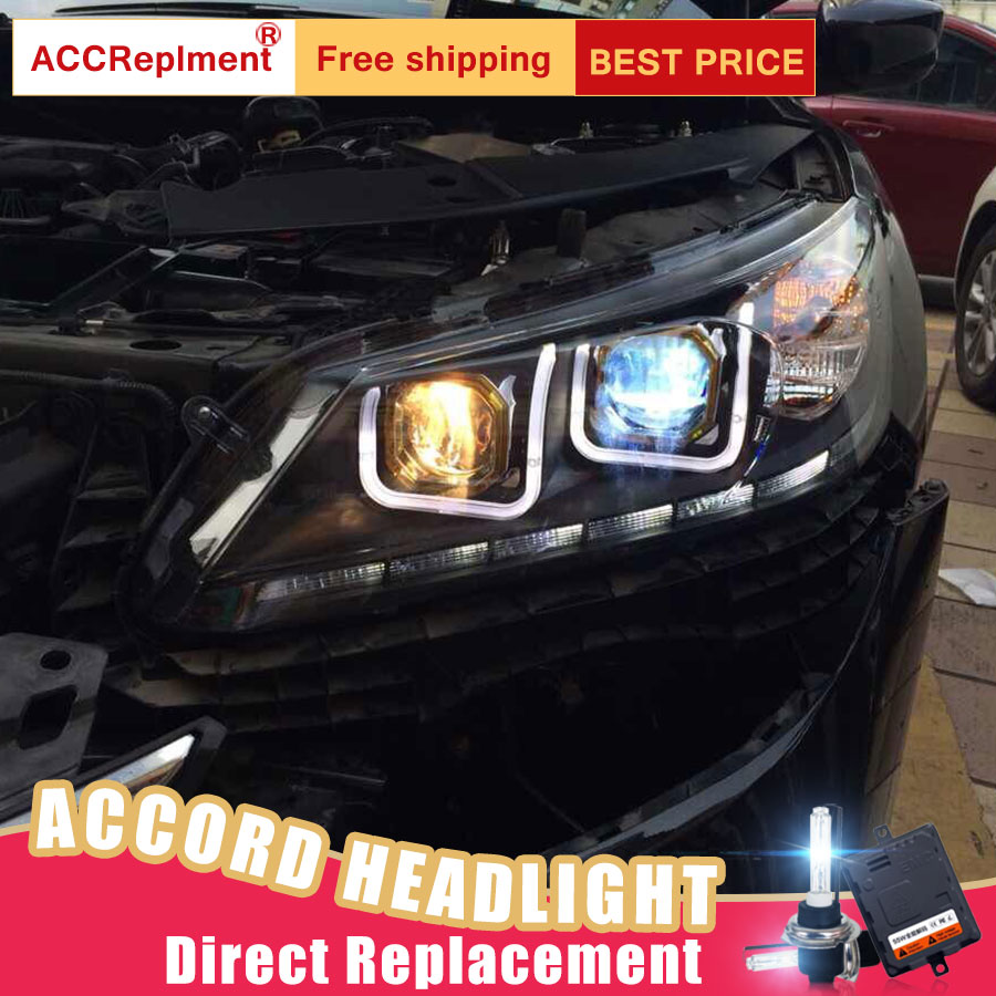 Detail Feedback Questions About 2pcs Led Headlights For Honda Accord 2017 Car Lights Angel Eyes Xenon Hid Kit Fog Daytime Running