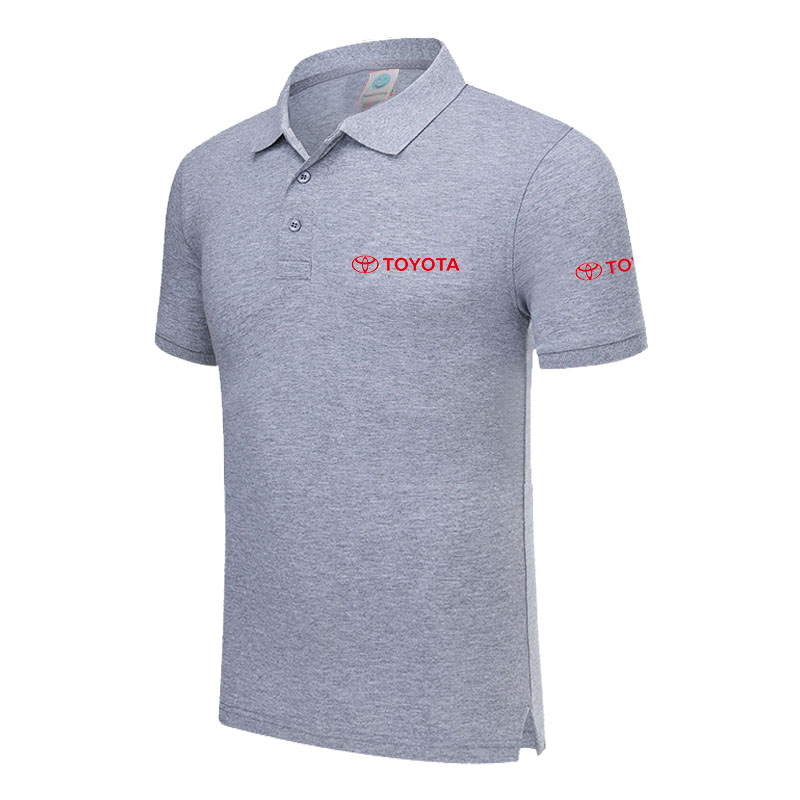 Polo   Shirt TOYOTA logo Casual Solid shirt Short Sleeve Cotton printed   Polos
