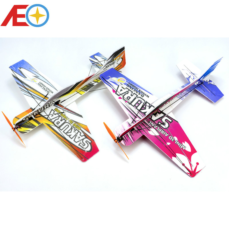RC Air plane 3D Airplane Micro Mini Foam EPP PP F3P Lightset KIT Model Hobby Toys Sakura Remote Control Toys-in RC Airplanes from Toys & Hobbies