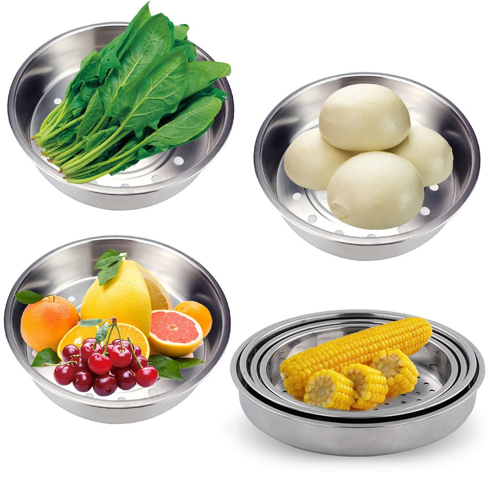 304 Stainless Steel Steamer Household Thickening Deepening Rice Cooker Steaming Basket Steaming Basket Vegetable And Fruit Drain