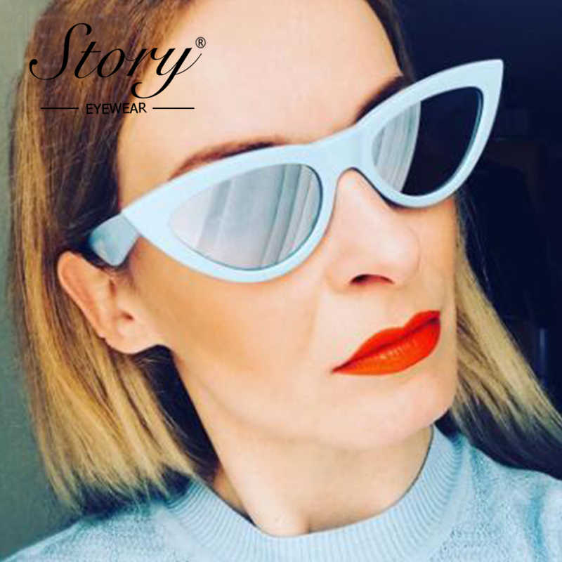 30be7636fa STORY 2018 Fashion Women Cat Eye Sunglasses Vintage Retro Triangle  Oversized Sun Glasse For Women 90S