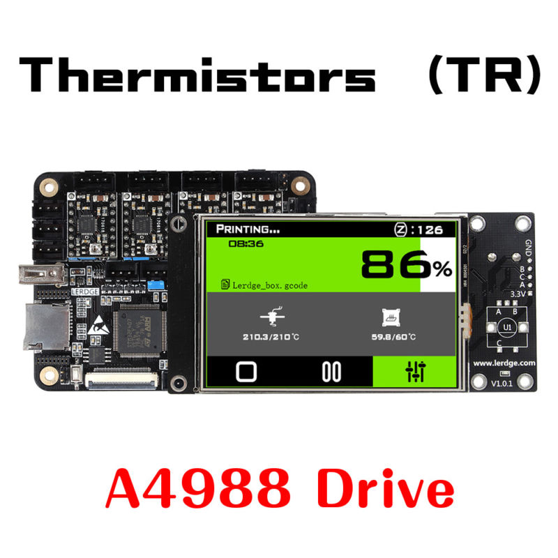 3D Printer Controller Board ARM 32Bit Mainboard control with 3.5Touch Scree chip lqfp32 stm32f030k6t6 patch 32 bit arm micro controller