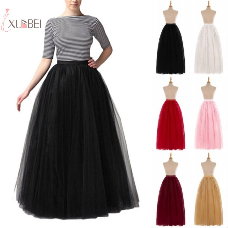 Long Bridal Wedding Petticoat Crinoline Ball Gown Skirt Underskirt Wedding Accessories Jupon Marriage New