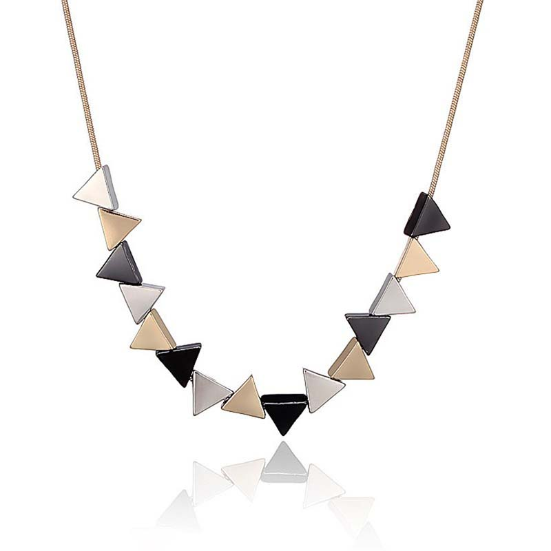 Pendant Necklace Vintage Jewelry Precious Geometric Party Women For Bijoux Alloy-Shaped