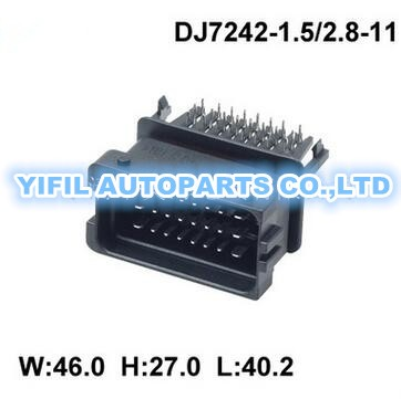 compare prices on ecu wiring harness online shopping buy low 50pcs lot kit 24 pin ecu plastic wire harness male auto connector hccphpe24bka90f