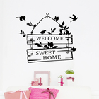 welcome sweet home door sign decoration wall decals ZYVA-8253-NA decorative vinyl wall stickers for home decor
