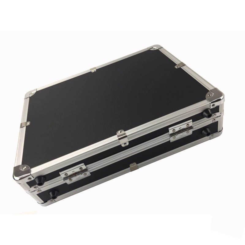 Чехол для инструмента Многофункциональный алюминиевый сплав ящик для инструментов Чехол Коробка для файлов ударопрочный Безопасный инструмент коробка с поролоновой подкладкой