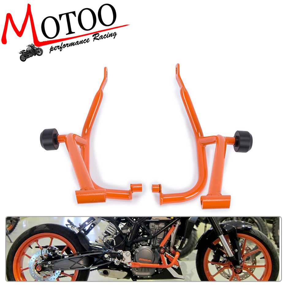 Motoo - For KTM DUKE 200 DUKE200 Motorcycle Accessories Engine Protetive Guard Crash Bar Protector 2013-2016 motorcycle front rider seat leather cover for ktm 125 200 390 duke