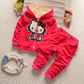 2016 new Baby Girls clothing sets Children hoodies spring autumn clothes set kids sport tracksuit set baby coat+Pants 2Pcs