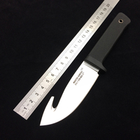 Cold Steel Master Hunter Hunting Fixed Knives,D2 Blade ABS Handle Sanding Camping Knife.