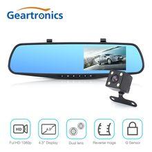 Видеорегистраторы для автомобилей Двойной объектив автомобиля Камера Full HD 1080 P видео Регистраторы Зеркало заднего вида с заднего вида dvr регистраторы Авто Регистратор