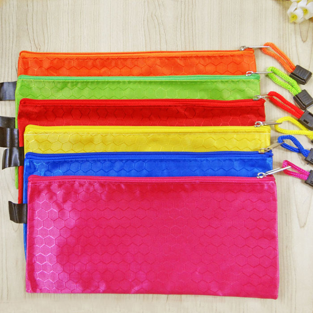 1 Pcs Waterproof A4/B5/A5/A6 File Bag Clear Grid Button PVC File Bag Folder Office Stationery
