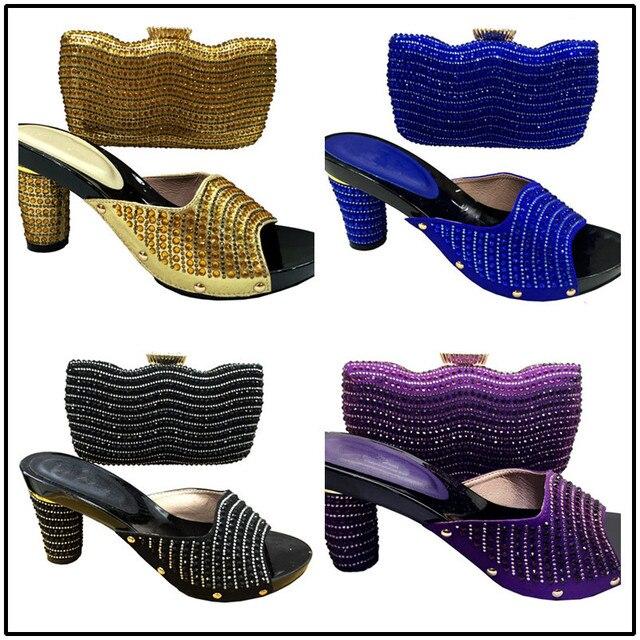 56fc4e842a617 Or Couleur Africaine De Mariage Chaussures Avec Le Sac De Mode Italien  Chaussures Et sac Lady