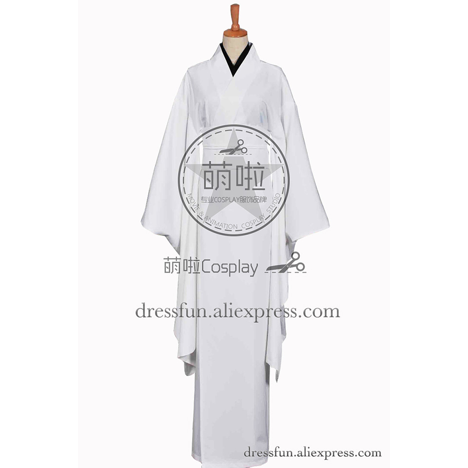 Kill Bill Cosplay O-Ren Ishii Costume White Kimono Black Shirt Uniform Outfits Suit Halloween Fashion Party Fast Shipping