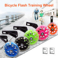 1 Pair Children Kids Bicycle Bike Training Wheels Flash Stabilisers Safe For Cycling Balance BB55|Protective Gear| |  -