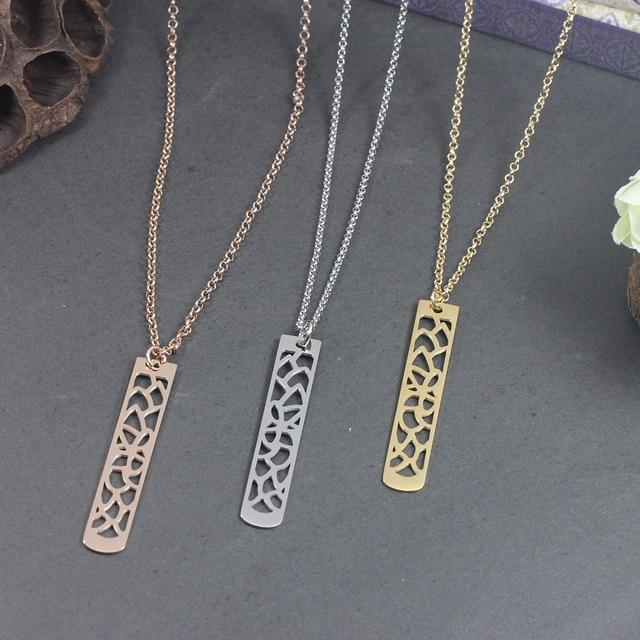 New Fashion Flower Pendant Bar Necklace
