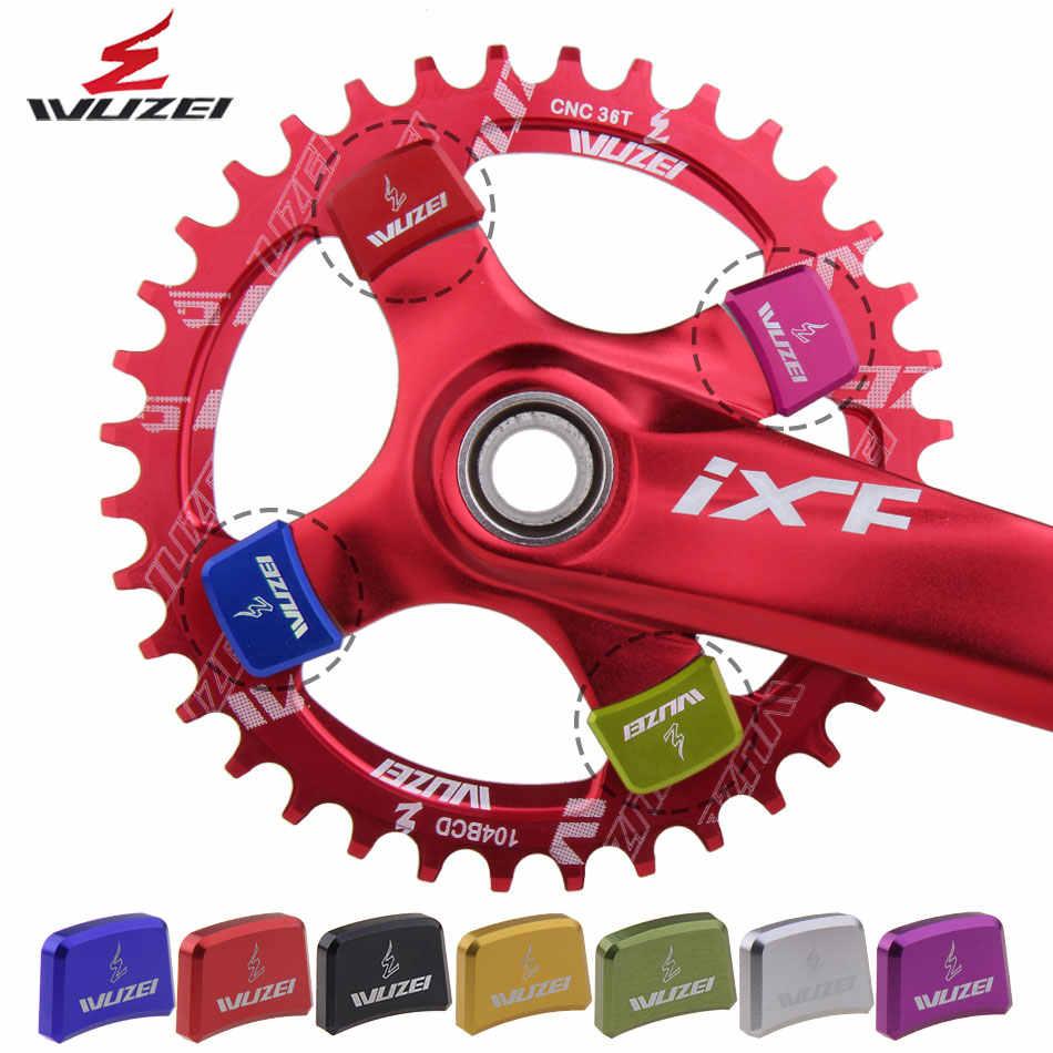 WUZEI 4 個スプロケットボルト自転車チェーンホイールネジ CNC 7075 道路 MTB 自転車ディスクネジクランクセット自転車部品