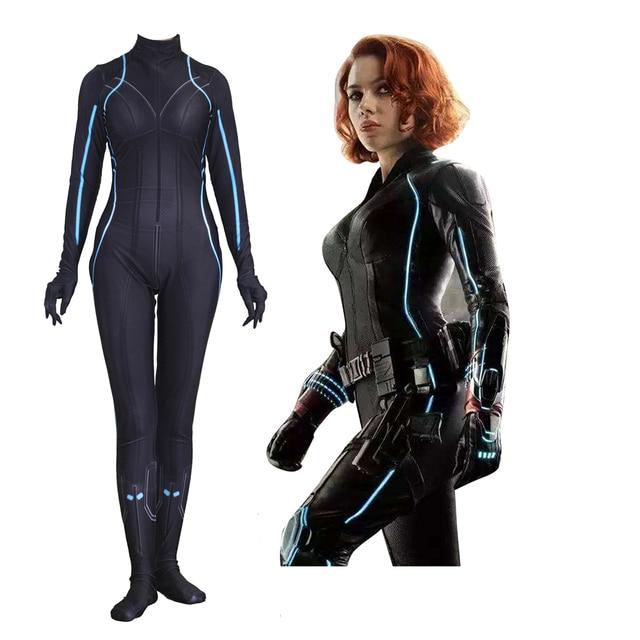 US $31 34 5% OFF|The Avengers Black Widow Natalia Alianovna Romanova  Cosplay Costume Zentai Bodysuit Fancy Women Girls Ball Dress Suit Jumpsuits  -in
