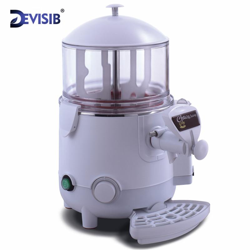 DEVISIB Commercial Hot Chocolate Machine Beverage Dispenser 5 Liter Hot Chocolate Maker & Milk Frother