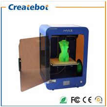 Metal Structure Blue/Black 6 Month Warranty Createbot Touchscreen MAX 3D Printer with Heatbed and Dual Nozzle High Precision