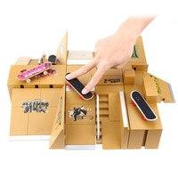 Finger Skateboards Game Toy 11pcs Skate Park Kit Kids Toys Ramp Parts for Tech Deck Finger Board Ultimate Sport Training Props