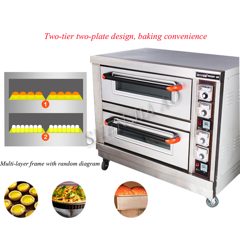 Commercial Electric Oven 6400w Baking Oven Double Layers Double Plates  Baking Bread Cake Bread Pizza Machine BND2 2 1pc In Ovens From Home  Appliances On ...