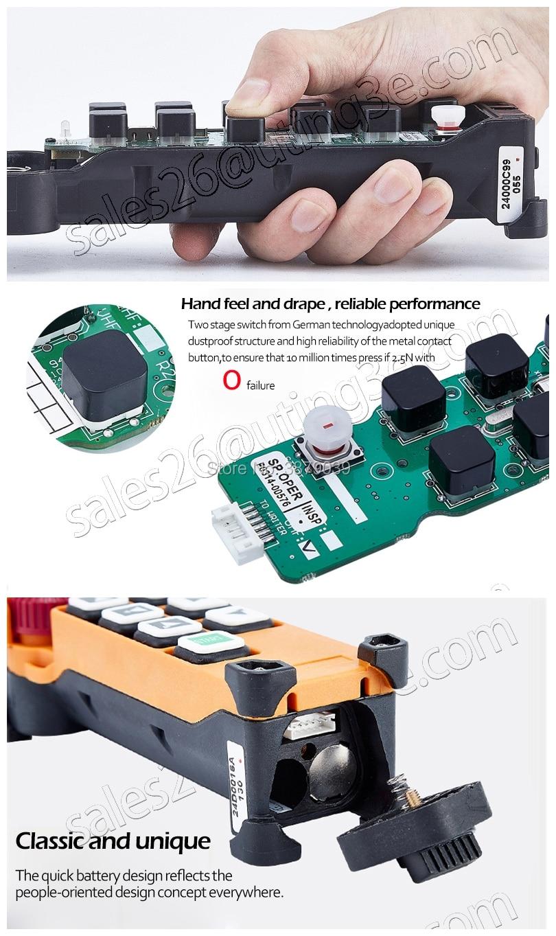Uting ce fcc F24-6D (2 transmissor +