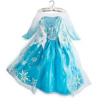 New Baby Girl Snow Queen Elsa Anna Dress Princess Girls Dresses Child Costume Causal Lace Sequins