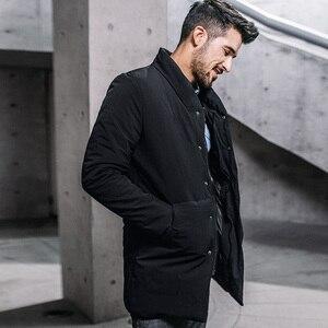 Image 2 - Inverno dos homens parkas com capuz grosso cor preta para 2020 novo homem magro ajuste roupas quentes marca masculino wear casacos mais tamanho 0281
