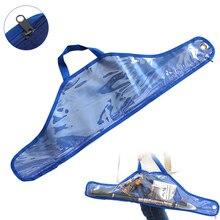 68cm Convenient Blue Transparent Plastic Canvas Bag for Fishing Rod Reel Line an