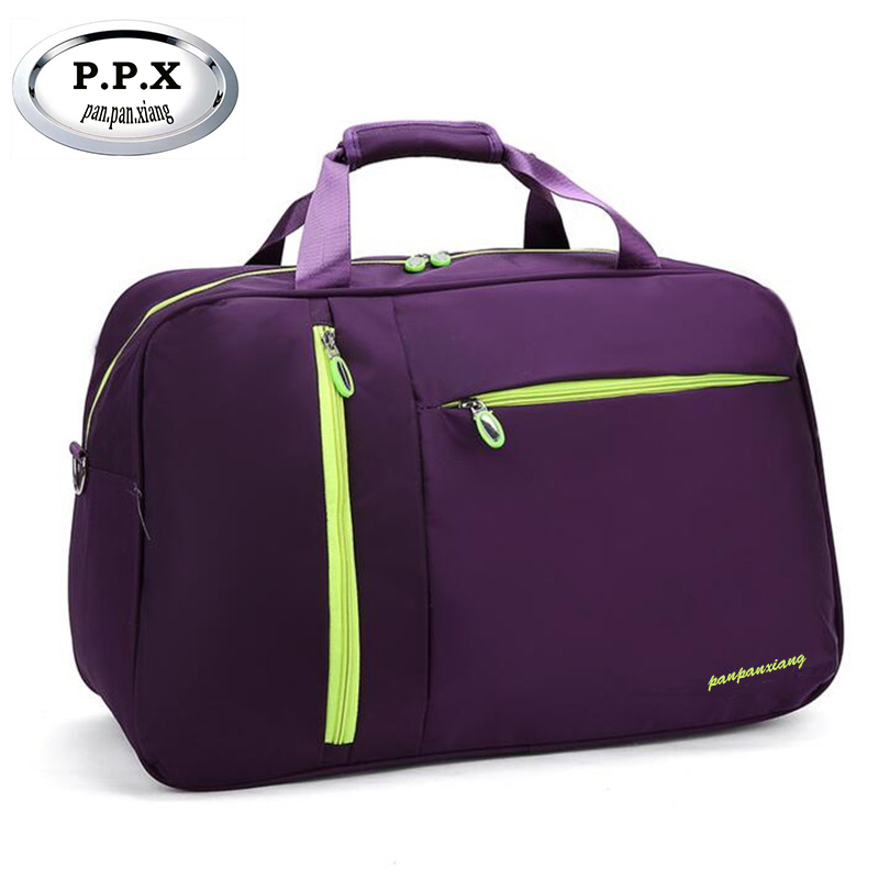 P.P.X Women Travel Bags Solid Waterproof Nylon Handbag Ladies Large Capacity Travel Bag Bolsa Feminina Female Bags Handbags X244