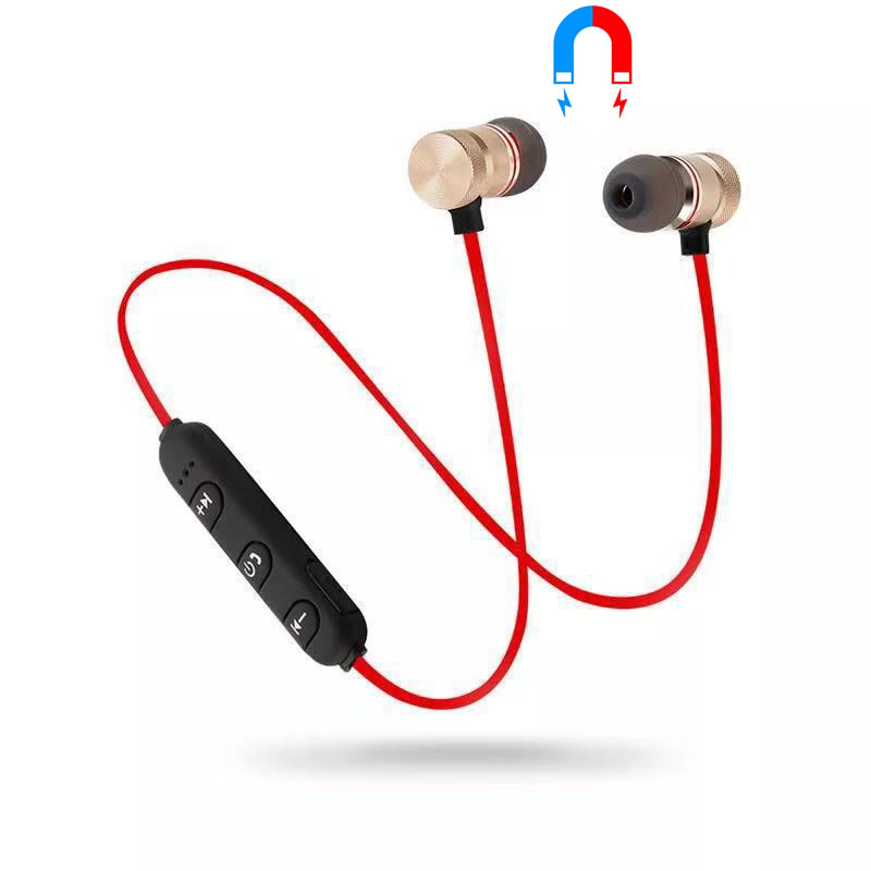 Bluetooth Wireless Earphone Metal Magnetic In-Ear Earbuds Sports Hifi Stereo Headset With Microphone Bass Auriculares