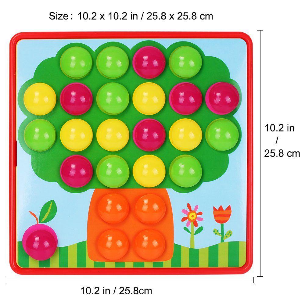 Aprendizaje Botón Niños Puzles Juego Mosaico Arte Y Juguetes Pegboard Niñas Color Educativos Para Temprano m08yvNPwnO