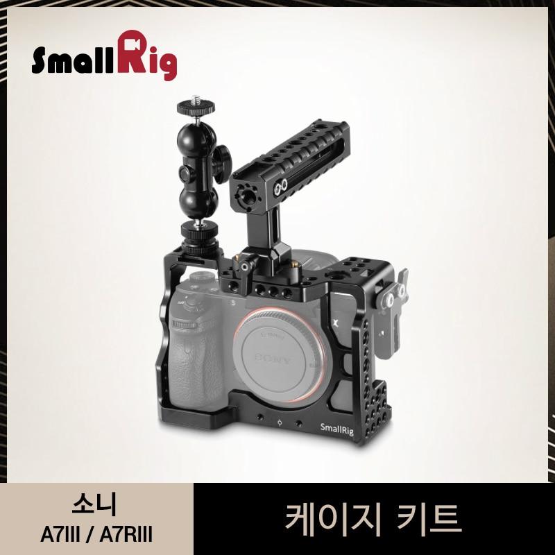 SmallRig a7m3 a7iii Cage Camera Kit per Sony A7RIII/A7III Gabbia Con La Nato Maniglia + Doppia Ballheads Braccio di Estensione kit-2103
