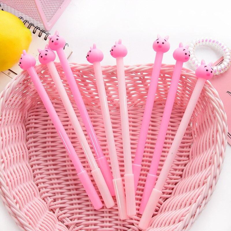 Pink Surprise Pig Gel Pen Signature Pen Escolar Papelaria School Office Supply Promotional Gift