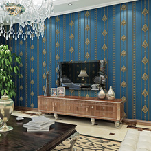 Non-woven Wallpaper Simple Modern Wallpaper European 3D Luxury Striped Bedroom Living Room TV Background Wall Paper Roll european luxury 3d gold foil wallpaper 3d damask golden bedroom background wallpaper mural wall paper striped floral wallpaper